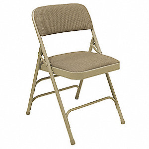 Folding Chair,Beige,18-3/4 In.,PK4