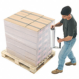 "18"" x 1500 ft. Linear Low Density Polyethylene Stretch Wrap, 70 Gauge, Clear, 1EA"