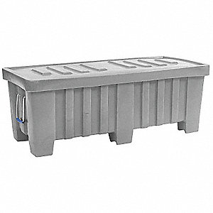 Container,7 cu.-ft.,350 lbs.,Gray