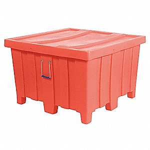 Container,23 cu. ft.,800 lb.,Orange