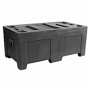 Container,16.5 cu.-ft.,650 lbs.,Black