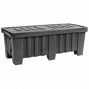 Container,18 cu. ft.,700 lb.,Black