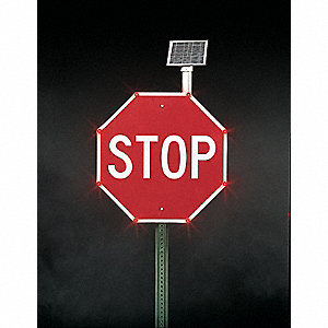 Right Bend Arrow LED Traffic Sign, Red LED Color, Power Requirements: (3) AA NiMH Rechargeable Batte
