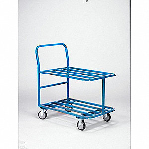 Tubular Welded Steel, 1200 lb. Load Capacity, Number of Shelves: 2