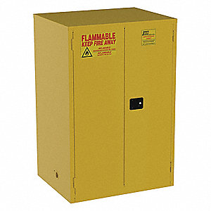 "90 gal. Flammable Cabinet, 65"" x 43"" x 34"", Manual Door Type"
