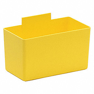 Bin Cups,5-1/8 In.L,Yellow
