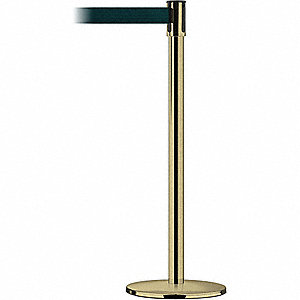 Barrier Post with Belt,Stainless Steel