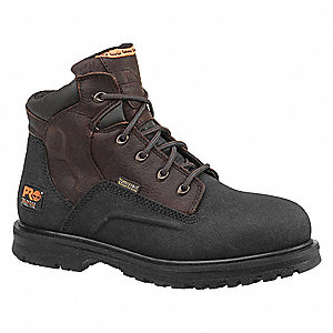 "6""H Men's Work Boots, Steel Toe Type, Leather Upper Material, Rancher Worchester, Size 9-1/2W"