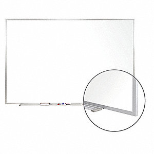 "Matte-Finish Porcelain Dry Erase Board, Wall Mounted, 48-1/2""H x 96-1/2""W, White"