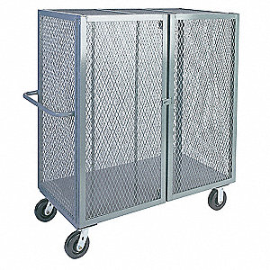 Mesh Security Cart,2000 lb,57x36x48