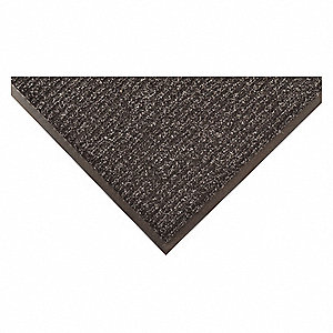 "Indoor Entrance Mat, 8 ft. L, 4 ft. W, 3/8"" Thick, Rectangle, Charcoal"