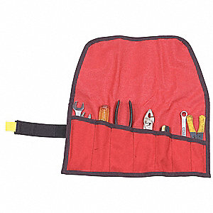 Red Tool Pouch, 1000D Cordura, Nylon, Hook and Loop
