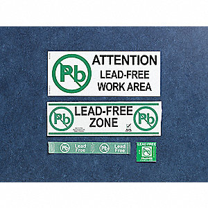 Lead Free Label,1-3/4 In. H,1-3/4 In. W