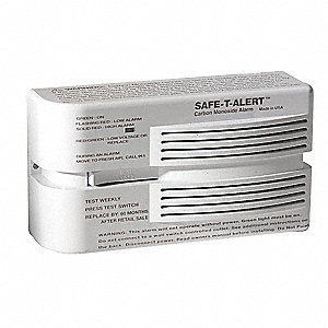 Carbon Monoxide Alarm with 85dB @ 10 ft. Audible Alert&#x3b; 120VAC