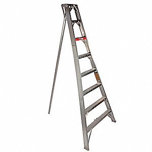 10 ft. 300 lb. Load Capacity Aluminum Tripod Stepladder