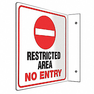 "Authorized Personnel and Restricted Access, No Header, Plastic, 8"" x 8"""