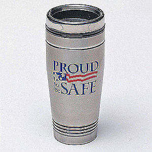 Travel Mug,Proud To Be Safe,18 oz.