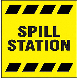 PROJECTION SIGN SPILL STATION 3D