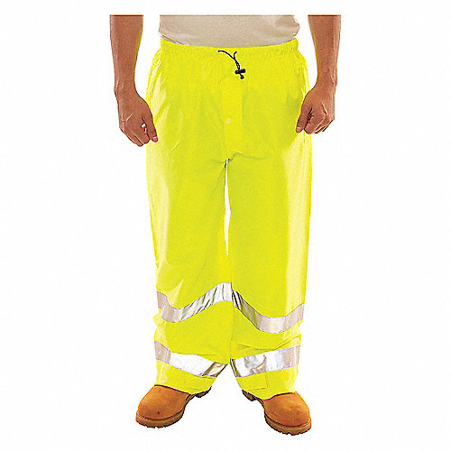 compra genuina excepcional gama de estilos alta calidad Pantalon Impermeables,Amarillo/Verde,3XG