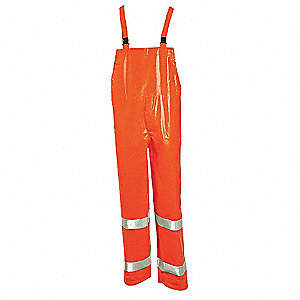 Arc Flash Rain Overall,M,HiVis Orange