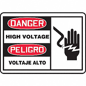 "Spanish-Bilingual Danger Sign,7""x10"""