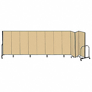 20 ft. 5 in. x 6 ft., 11-Panel Portable Room Divider, Beige