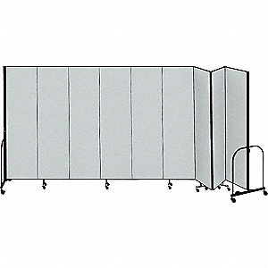 Partition,16 Ft 9 In W x7 Ft 4 In H,Gray