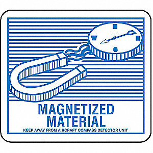 Magnetized Material Paper, Self-Sticking DOT Label