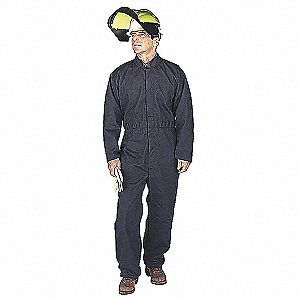 Flame-Resist Coverall Kit,Yllw,2XL,HRC6