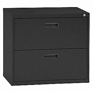 Lateral File Cabinet,2 Drawers,Black