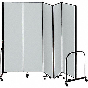Partition,9 Ft 5 In W x 8 Ft H,Gray
