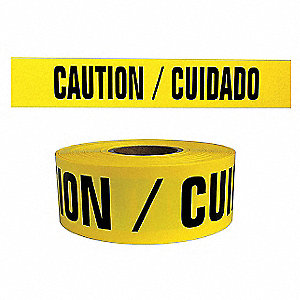 Barricade Tape,Caution/Cuidado,1000 ft.