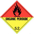 DOT LABEL,4 IN. H,ORGANIC PEROXIDE,