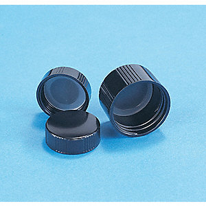 Phenolic Screw On Narrow-Mouth Cap, Black, 144 PK