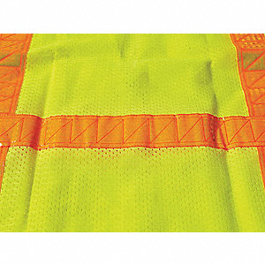 Yellow/Green with Silver Stripe Traffic Vest, ANSI 2, Zipper Closure, 5XL