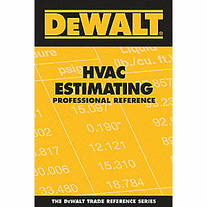 Estimating Reference Book, HVAC, English, General Reference, Paperback