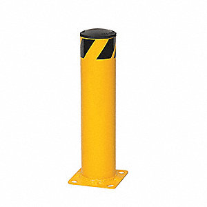 "48"" Removable Steel Bollard with 5-1/2"" Outside Dia., Yellow"