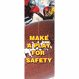 Safety Record Signs,74 x 28In,Vinyl,ENG