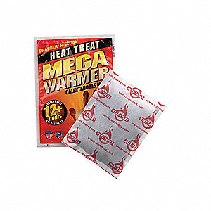 Hand Warmer, Up to 12 hr. Heating Time, Activates By Contact with Air