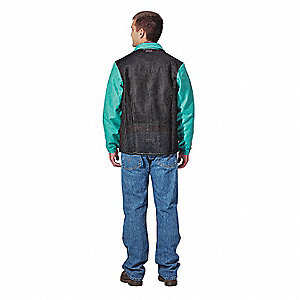 FR Welding Jacket,Green,Cane Back,XL
