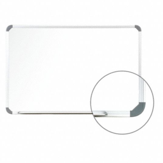 Gloss-Finish Steel Dry Erase Board, Wall Mounted, 24 inH x 36 inW, White
