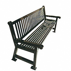 Outdoor Bench,72 in. L,36 in. H,Blue