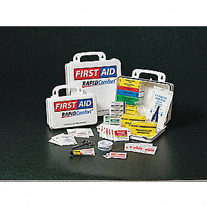 First Aid Kit,Unitized,10Pcs,2 to 5 Ppl