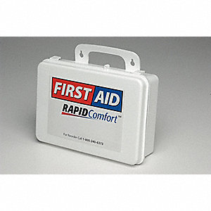 First Aid Kit, Kit, Plastic Case Material, General Purpose, 1 People Served Per Kit