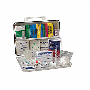 First Aid Kit,Unitized,White,25 People