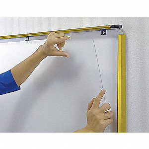 White Dry Erase and Spring-Loaded Sides for Posters Combination Bulletin Board