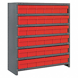 Bin Shelving Unit,18Dx36Wx39H,36 Bins
