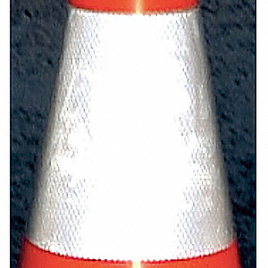 Reflective Traffic Cone Collar,Gray