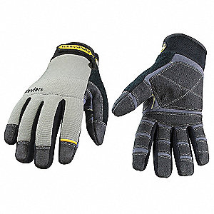 Uncoated Cut Resistant Gloves, ANSI/ISEA Cut Level 3, Kevlar® Fiber Lining, Gray/Black, M, PR 1