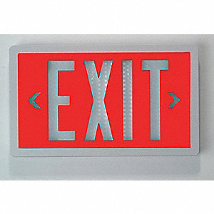 Self-Luminous Exit Sign,20 yr.,1 Face